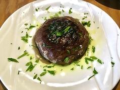 ジャンボマッシュルームの肉詰めオーブン焼き