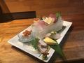 料理メニュー写真おまかせ海鮮8点盛り/シャコ貝刺身/夜光貝