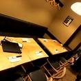 8名様用のテーブル席は各種宴会に最適。