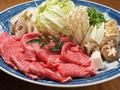 料理メニュー写真実は海鮮だけじゃない!【黒毛和牛すきやき】は匠の味