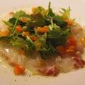 料理メニュー写真真鯛と生タコのカルパッチョ