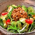 料理メニュー写真納豆パワーサラダ