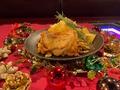 料理メニュー写真クリスマスチキン Mサイズプレート