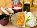 料理メニュー写真ヒレカツ定食150g