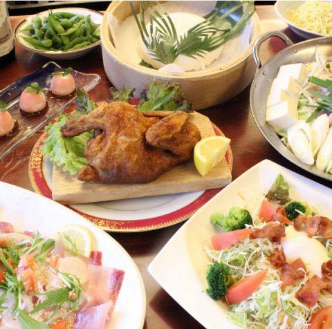 【半身揚げコース】料理のみ1450円(税込)