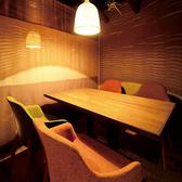 4名掛けのテーブル席は使い勝手抜群♪プライベートなシーンでご利用いただけます★