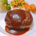 料理メニュー写真ハンバーグプレート