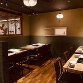 【最大20名様前後】歓送迎会などご宴会におすすめの、三方区切られたテーブル席です。