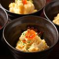料理メニュー写真卵とホタテ貝柱のポテトサラダ