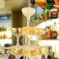 シャンパンタワーで乾杯☆