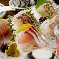 瀬戸内海の漁港から直接届く新鮮な地魚をお刺身で