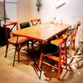 広めのテーブルは7名様までOK! パーティーや女子会に人気のお席