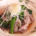 料理メニュー写真菜の花と牛しゃぶのおろしポン酢