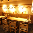 【渋谷】簡単に席替えできるテーブル席!急な人数変更も柔軟に対応致します。