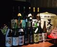焼酎・日本酒など、お酒の種類も豊富にご用意しております♪