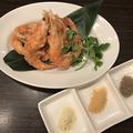 料理メニュー写真殻付き海老のふんわり揚げ