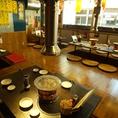 【~6名様 掘りごたつ席】ご家族のお客様に人気の、ゆったりとした空間で焼肉をお楽しみください!