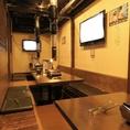 個室は最大20名様までご利用可能です!企業様のご宴会・打ち上げ・懇親会など各種ご宴会にぜひ!