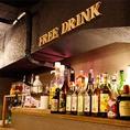 【ロフト席フリードリンクの設備】ビールサーバー・炭酸作成機・酒燗機・ケトル・樽スパークリングなど。。大満足のセルフ式飲み放題!