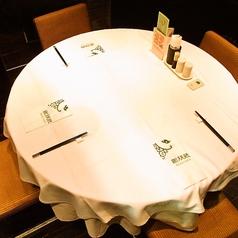 人気の円卓個室。