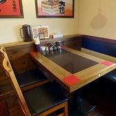 4名様用テーブル席。ご家族や職場、お友達などに最適♪