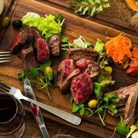 厳選素材赤身ステーキ三種盛り合わせ
