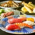 料理メニュー写真【花】冷たいビールと供にサクサクの天ぷらや握り寿司が堪能できるカジュアルコース
