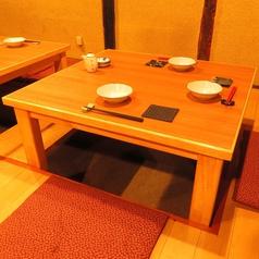 2~3名様用席は2卓ございます。【天文館 郷土料理 焼酎 肉 魚 地鶏 掘り炬燵 溶岩焼き 飲み放題 宴会】
