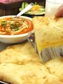 料理メニュー写真チーズナン Cheese Nan