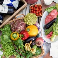 新鮮な農園直送野菜を使用しております!