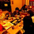 気の合うご友人たちと楽しく料理をお楽しみください!女子会でもにんきです!