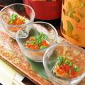 料理メニュー写真うに湯葉イクラの一口前菜