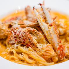 リングイネ 渡り蟹のトマトクリームソース