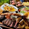 【デザート付コースメニュー】大満足のコースメニュー!名物のニックビレッジが楽しめるコースは、サラダやデザート付で3900円と大変お得です!お肉たっぷりで盛り上がること間違いなし!