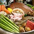 新鮮な食材をたっぷりと♪旬のお野菜や魚介をサクサクの串でお召し上がり頂けます