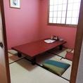 2階:6名様の個室お座敷席です。お仕事の打ち合わせ、接待等にもオススメのお部屋です。