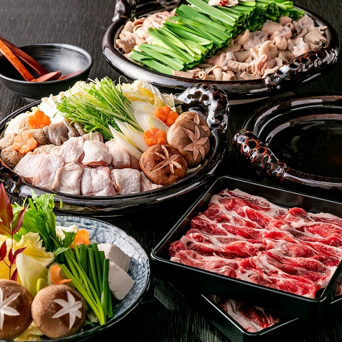 ■福福コース■〈食べ飲み放題3H+料理9品〉3種の中から選べるメイン鍋 4480円⇒