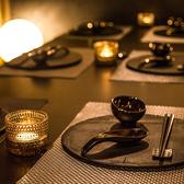 2名様~ご利用頂ける完全個室をご用意しております。落ち着きある大人の為の空間は、デートや記念日におすすめのプライベート空間となっております。