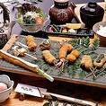 季節の串から人気の串まで様々な串をお楽しみ頂けます。