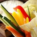 料理メニュー写真野菜スティックのオリジナルバーニャカウダー