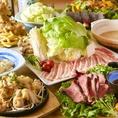★肉肉肉の肉づくしコース!ローストビーフなど人気のメニューを豊富に揃えております★