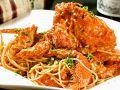 料理メニュー写真活け渡り蟹のスパゲッティー
