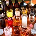 各コース、会席、御膳には+1,800円(税抜)にて約20種類のドリンク飲み放題をお付け致します。ノンアルコールのみは1,000円(税抜)です。