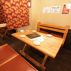 仕切ることができるテーブル席は少人数の飲み会に大人気★気兼ねなく楽しめる雰囲気でオススメです。