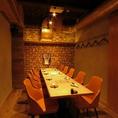 完全個室。会社宴会や仲間同士の飲み会など、小中宴会に◎プロジェクター完備!