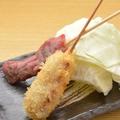 料理メニュー写真串かつ(牛)