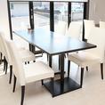 6名様でご利用いただけるテーブル席です。※お席を連結させて複数名でご利用いただくことも可能です。【Spazio di Lusso 洋麺亭】(スパジオディルッソ ようめんてい)