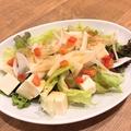 料理メニュー写真ヘルシー豆腐サラダ青じそ風味