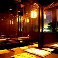大人数収容可能な掘りごたつのお席。楽にお座敷に座れると特にご年配の方に人気です。会社のご宴会やご親族のお集まりにもぴったり。ひものや日本酒など、通好みのお料理も揃っています。じっくり飲んで話したいご宴会ならひものやでどうぞ