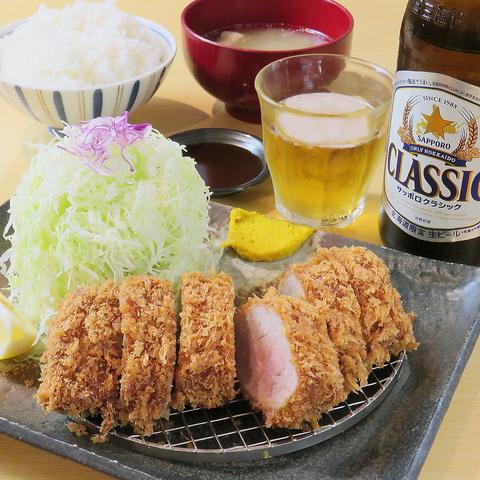 【月-金限定】メニューが決まってたらここから予約を!特ヒレカツ定食+瓶ビール3000円